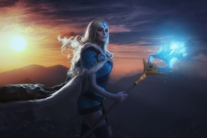 Crystal Maiden DotA 2 Cosplay Wallpaper