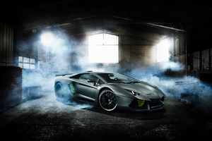 Custom Lamborghini Aventador 2018 Wallpaper