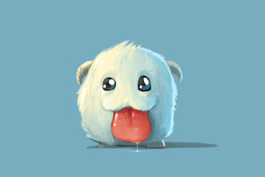Cute White Poro