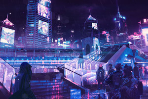 Cyberpunk Neon City Wallpaper