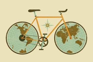 Cycle Minimalism Wallpaper
