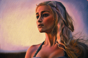 Daenerys Emilia Clarke 5k Artwork Wallpaper