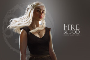 Daenerys Targaryen Fan Art Wallpaper
