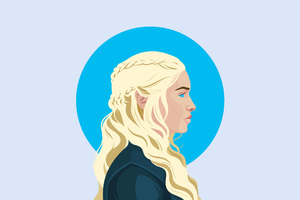 Daenerys Targaryen Illustration 4K 2018 Wallpaper