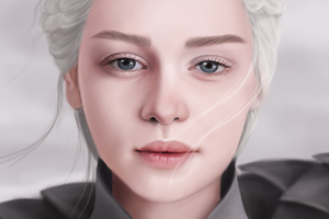 Daenerys Targaryen Illustration 4k Wallpaper