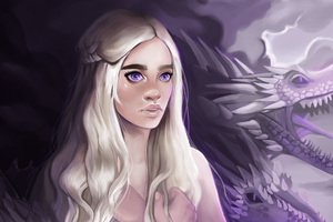 Daenerys Targayen With Dragons Artwork 5k Wallpaper