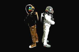 Daft Punk EDM Minimalism Wallpaper