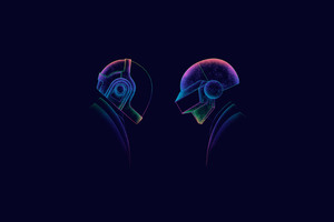 Daft Punk Minimalism 3 Wallpaper