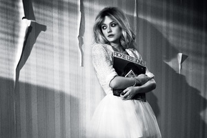 Dakota Fanning Monochrome