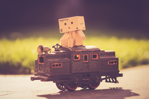 Danbo Train 5k Wallpaper