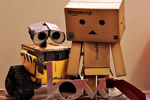 Danbo And WallE Wallpaper