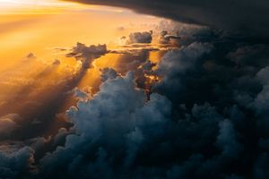 Dark And Bright Clouds Sky Sunlight Wallpaper