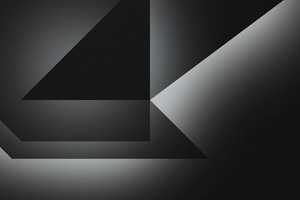 Dark Grey Abstract Shapes 4k Wallpaper