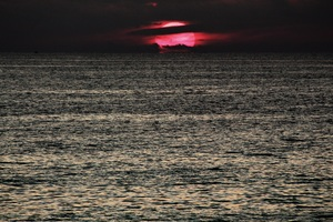 Dark Sunset Red Sea Wallpaper