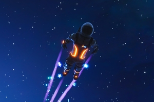 Dark Voyager Skydive Fortnite Battle Royale 4k Wallpaper