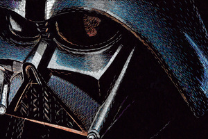 Darth Vader Portrait Wallpaper
