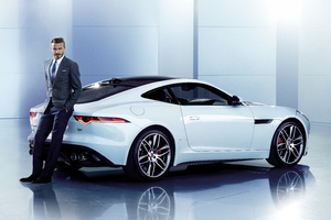 David Beckham Jaguar 8k Wallpaper