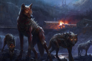 Deadly Wolfs Wallpaper