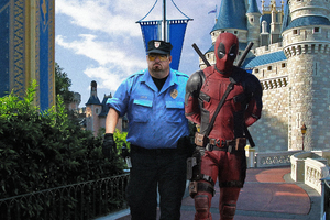 Deadpool 2 Arrested By Police Wallpaper