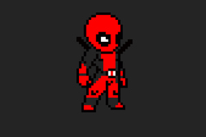 Deadpool 8 Bit Art Wallpaper
