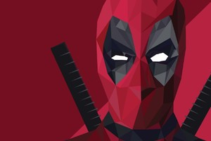 Deadpool Abstract Art Wallpaper
