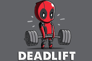 Deadpool Deadlift Funny 8k Wallpaper