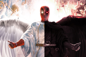 Deadpool Devil And Angel Wallpaper