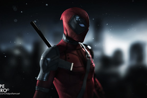 Deadpool Digital Art HD Wallpaper