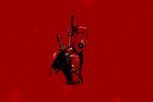 Deadpool Minimalist 4k Wallpaper