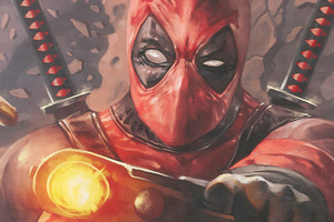 Deadpool Paint Art Wallpaper