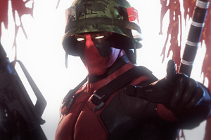 Deadpool Vietnam Solider Wallpaper