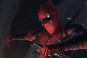 Deadpool With Sword Wallpaper