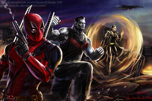 Deadpool X Force Team Wallpaper
