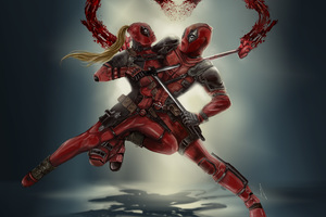 Dedpool Vs Lady Deadpool Wallpaper