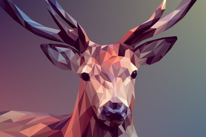 Deer Polygon Art 8k Wallpaper