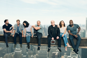 Defenders Agents Of Shield Actors Photoshoot Wallpaper