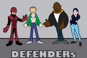 Defenders Tv Show Cartoon Artwork