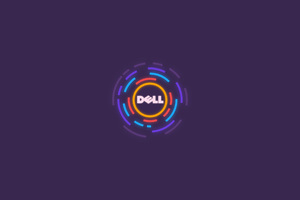 Dell Logo Minimalism Wallpaper