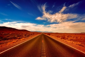 Desert Alone Road