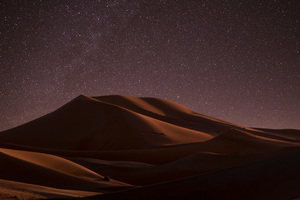 Desert Nightime Stars 5k Wallpaper