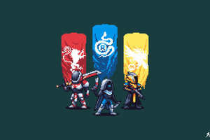 Destiny 2 Pixel Artwork 4k Wallpaper