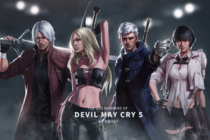 Devil May Cry 5 Old Members 8k Wallpaper