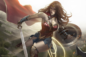 Diana Prince Art Wallpaper