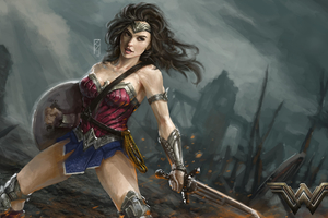 Diana Prince Wonder Woman Art Wallpaper