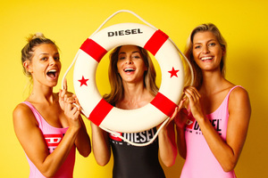Diesel Brand Models Wallpaper