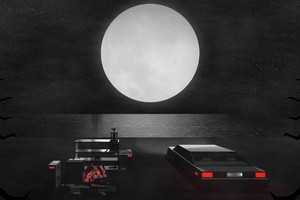 Digital Art Car Moon