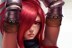 Digital Art Red Head Mirco Cabbia Scarlet Erza Fairy Tail