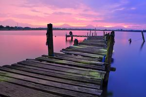Dock View Colorful 4k Stock Wallpaper