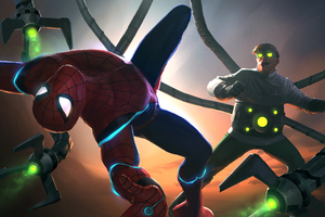 Doctor Octopus Vs Spiderman Contest Of Champions 4k Wallpaper