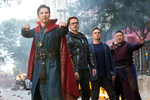 Doctor Strange Stark Wong And Banner In Avengers Infinity War 2018